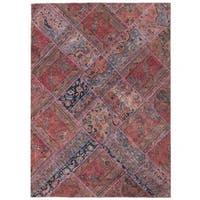 Herat Oriental Pak Persian Hand-knotted Patchwork Wool Rug (5'8 x 7'10) - 5'8 x 7'10