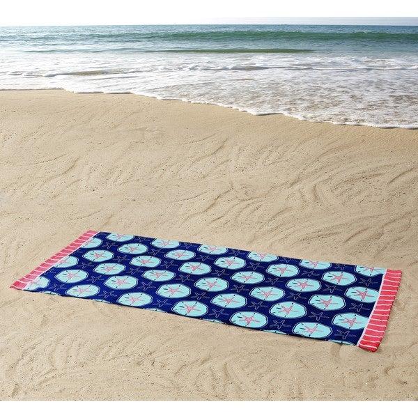 beach towel on beach. Perfect Towel Clairebella Sand Dollars Beach Towel In On A