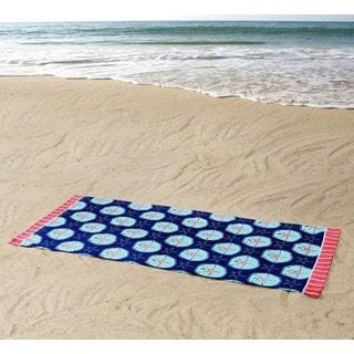 Clairebella Sand Dollars 36x72 100% Cotton Beach Towel