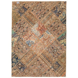 Herat Oriental Pak Persian Hand-knotted Patchwork Wool Rug (5'6 x 7'8)