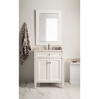 New Brittany 30-inch Arctic Fall Top Cottage White Single Vanity
