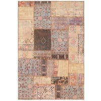 Herat Oriental Pak Persian Hand-knotted Patchwork Wool Rug (3'10 x 5'9) - 3'10 x 5'9