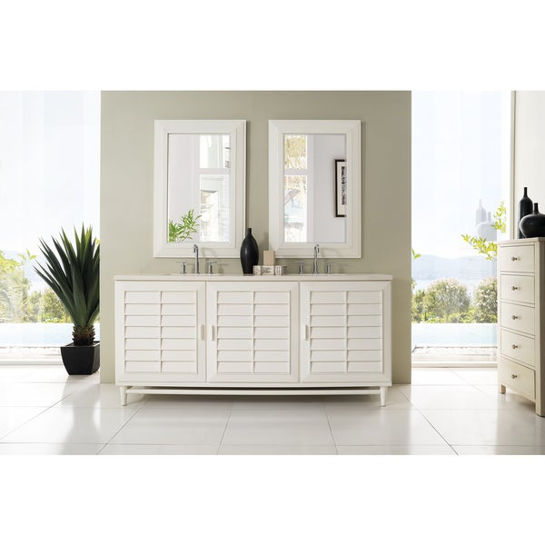 Portland 72-inch Cottage White Double Vanity