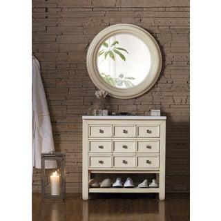 Victoria 33-inch Snow White Quartz Top Vanilla Oak Single Vanity