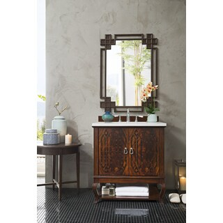 Palm Beach 31-inch Arctic Fall Top Brown Single Vanity