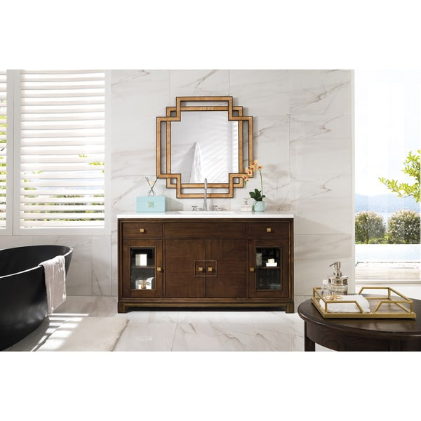 Sydney 60-inch Arctic Fall Top Espresso Single Vanity