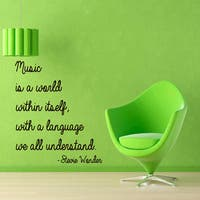Quote Music Is A World Within Itself Language We All Understand Vinyl Sticker Interior Sticker Decal