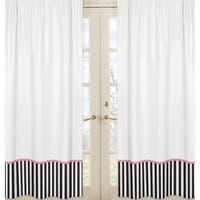 Sweet Jojo Designs Paris Curtain Panel Pair