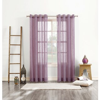 No. 918 Livi Grommeted Crushed Voile Window Curtain Panel
