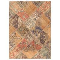 Handmade Herat Oriental Pak Persian Patchwork Wool Rug  - 5'7 x 7'10 (Pakistan)