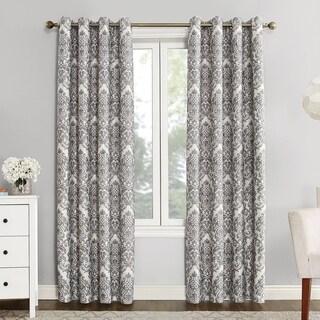 Sun Zero Claudine Blackout Lined Grommet Window Curtain Panel