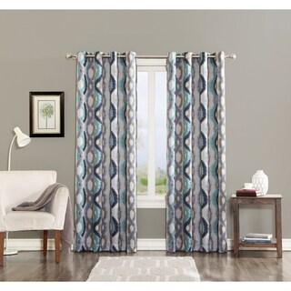 Sun Zero Cortez Watercolor Print Room Darkening Grommet Curtain Panel (3 options available)