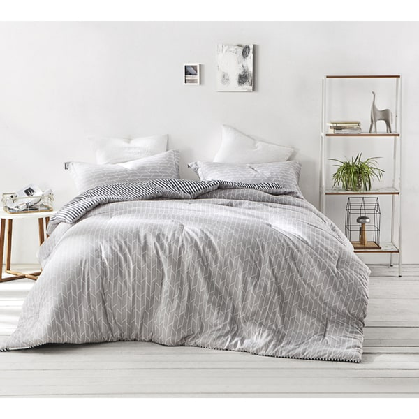 BYB Broken Arrow Grey Comforter (Shams Not Included)