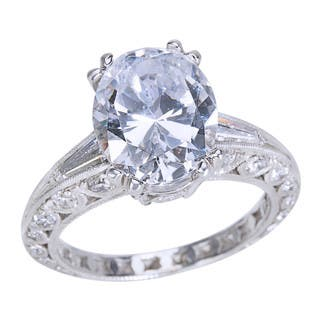 Tacori Platinum 1ct TDW Diamond and Cubic Zirconia Center Engagement Ring|https://ak1.ostkcdn.com/images/products/14565402/P21114107.jpg?impolicy=medium