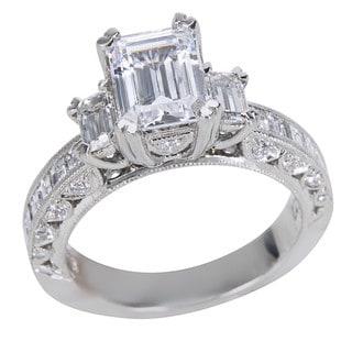 tacori platinum 1 16ct tdw diamond and cubic zirconia center engagement ring - Jared Wedding Rings For Her