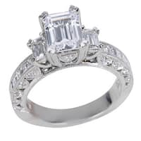 Tacori Platinum 1 1/6ct TDW Diamond and Cubic Zirconia Center Engagement Ring