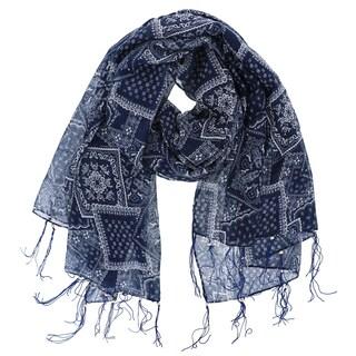 LA77 Women's Bohemian Polyester Beaded Tassel Scarf (3 options available)