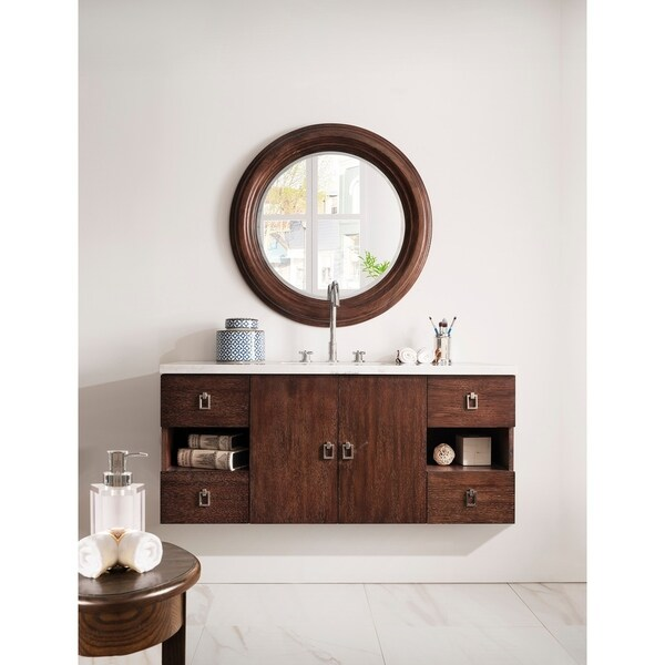 Sonoma 48 Inch Coffee Oak Floating Single Vanity