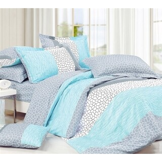 BYB Dove Aqua Comforter (Shams Not Included)