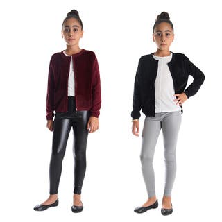 Dinamit Girls Faux Leather Leggings (Pack of 2)|https://ak1.ostkcdn.com/images/products/14565471/P21114162.jpg?impolicy=medium