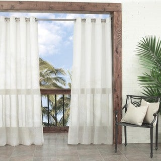 "Parasol Summerland Key Sheer Indoor/Outdoor Curtain Panel - 52"" W X 108"" L"