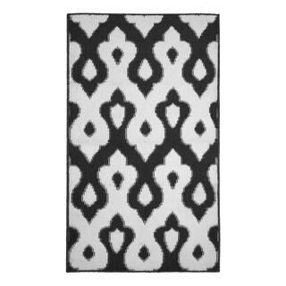 Jean Pierre All Loop Caravello Dark Grey/Soft White Decorative Textured Accent Rug - (28 x 48 in.)