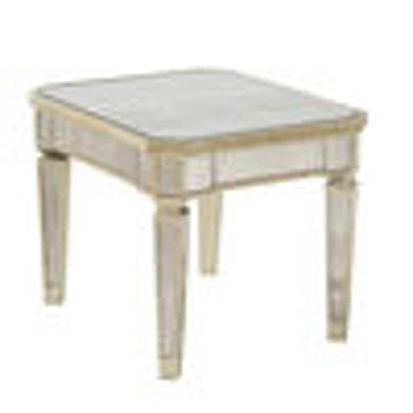 Borghese Mirrored Glam Rectangle End Table Free Shipping Today