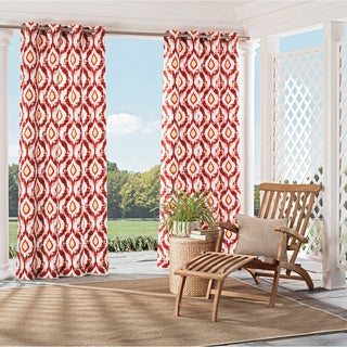 Parasol Barbados Indoor/Outdoor Ikat Print Curtain Panel