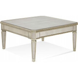 Borghese Mirrored Glam Square Cocktail Table