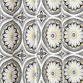 Parasol Cayman Indoor/Outdoor Medallion Print Curtain Panel