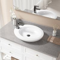 V3202 White Porcelain Sink with Antique Bronze Faucet and Pop-up Drain