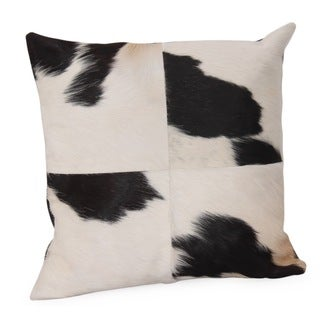 KUH Black and White Cow Hide Pillow