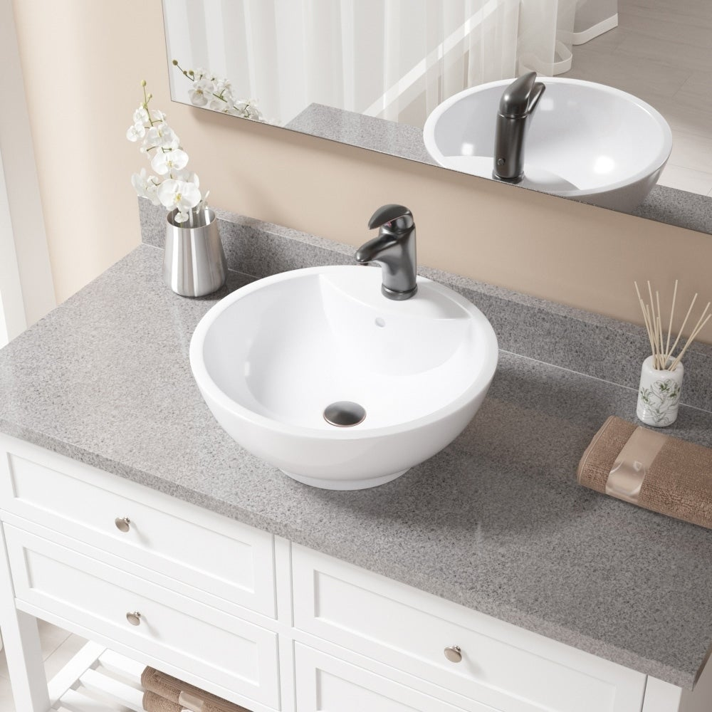 Genial Details About V2702 White Porcelain Sink With Antique Bronze Faucet And