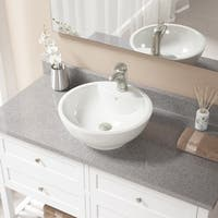 V2702-Bisque Porcelain Sink with Brushed Nickel Faucet