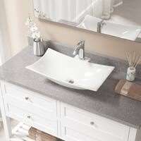 V240-Bisque Porcelain Sink with Faucet and Pop-up Drain in Chrome