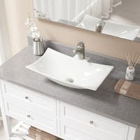 V240 Bisque Porcelain Sink with Brushed Nickel Faucet and Pop-up Drain