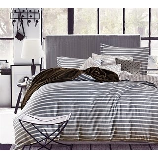 Byourbed Classic Grey Stripes Cotton Comforter