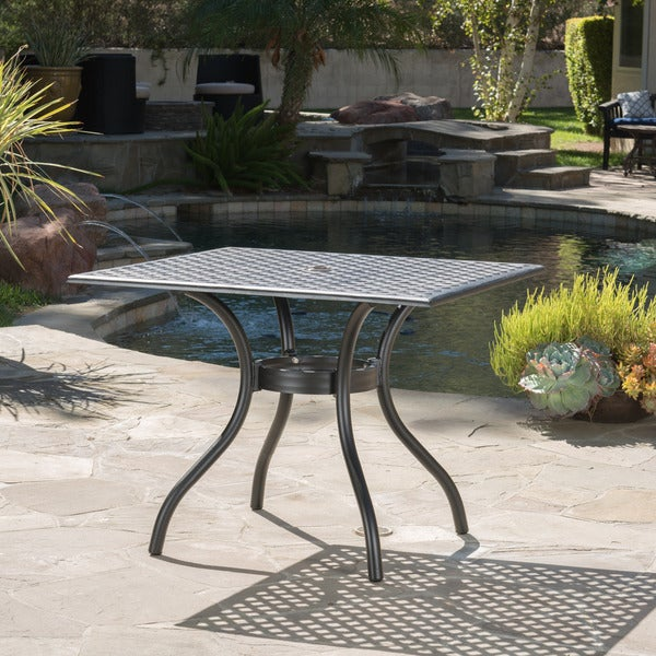 Shop Cayman Outdoor Cast Aluminum Dining Table ONLY By Christopher - Outdoor dining table only