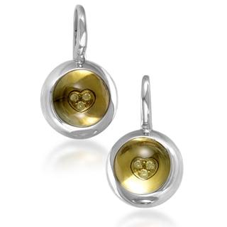 Pasquale Bruni Women's 18k White Gold Diamond Accent and Beryl Dangle Earrings