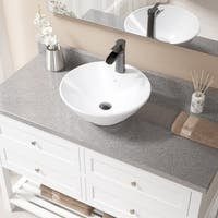 V2003 White Porcelain Antique-bronze Faucet and Pop-up Drain Sink