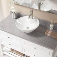 V2003 Bisque Porcelain Brushed-nickel Faucet and Pop-up Drain Sink