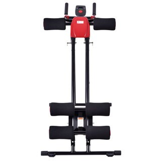 Straight Linear Type Powerful Private Fitness Club Abdomen Exerciser (Black/Red)