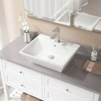 V160 Bisque Porcelain Brushed-nickel Faucet and Pop-up Drain Sink