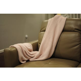 Zreyas Collection Intertwined Super Soft Cotton Throw by Pink Lemonade