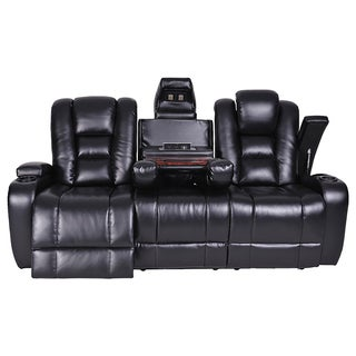 LYKE Home Power Black Sofa