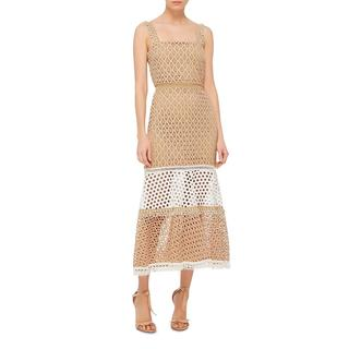 Alexis Beige Lace Erin Dress