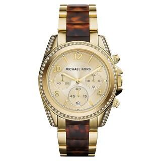 Michael Kors 2-tone Stainless Steel Women's Blair Chronograph Watch