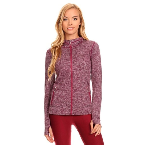 Seamless Active Nylon Polyester Living Jacket with Hoodie