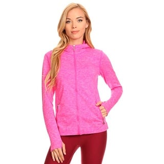 Active Living Pink Hooded Seamless Jacket