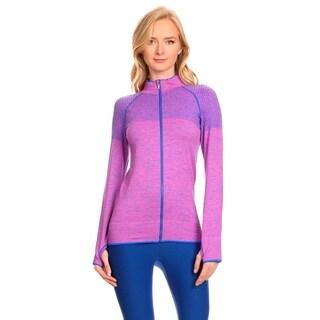 Active Living Purple Ultra-lightweight Seamless Running Jacket